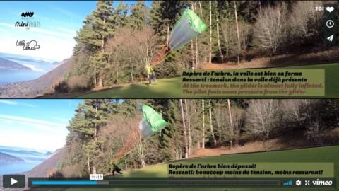 Comparaison des techniques de gonflage dos voile